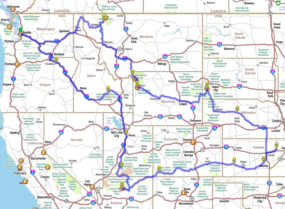 EBERT Heartland Southern US Map Of Us Driving Directions - Us driving map